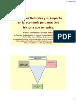 Desastres Naturales y Su Impacto en La Economía Peruana