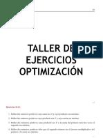 Ejercicios de Optimizacion (1)