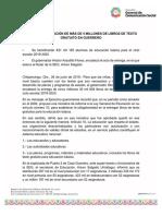 26-06-2019 INICIA LA DISTRIBUCIÓN DE MÁS DE 5 MILLONES DE LIBROS DE TEXTO GRATUITO EN GUERRERO.