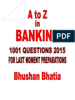 1001 Questions for Last Moment Banking Preparations