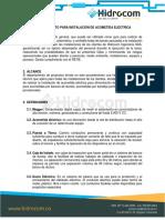 Procedimiento Para Instalación de Acometida Eléctrica.docx