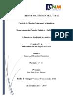 Práctica 9 - Química Analítica