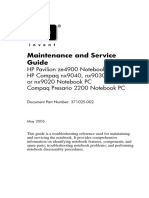 HP maintenance and service guide