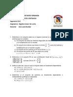 TALLER 3 Algebra Lineal 2018-2