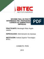 Informe Final de Practicas Mondragon Nieto Angela Jessica