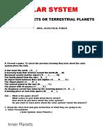 Solar System- Inner Planets