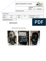 Informe Cambio de Motor Nuevo Minivan Livigui