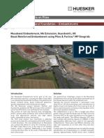 Basal Reinforced Piled Embankment on M6 Extension, Scotland, UK