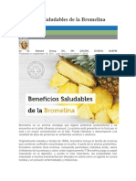Beneficios Saludables de La Bromelina