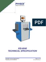 XIS 6040 Tech Spec RevA