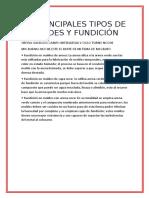 Principales Tipos de Moldes y Fundición (1)