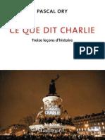 eBook Pascal Ory Ce Que Dit Charlie