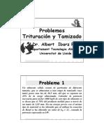 5 Problemas Trituración Tamizado 13