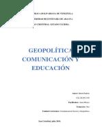 Comunicación Social y Geopolítica