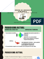 Paradigma Científico Actual y Clasificación de Las Ciencias