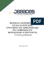Modelo Genérico de Evaluación Entorno Aprendizaje