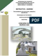 Instructivo Baremo Postgrado Concurso 2019 Ingreso 2020