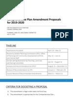 Comprehensive Plan Proposed Amendments