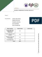 Rubrics for Grading Work Book in General Biology 2