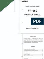 Manual Bomba de Infusión Nipro