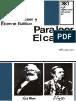 U. III - ALTHUSSER Louis - BALIBAR Etienne - Para Leer El Capital