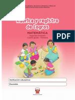 Kit Evaluacion Rubrica Registro Logros 4to Primaria Matematica 2trimestre Proceso3