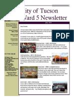 Ward 5 Newsletter - JULY 2019