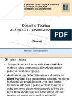Aula 20 e 21-Axonometria - Dimetria.pdf