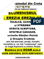 Pseudo Sinodul Din Creta 2016 Lamuriri Pe Intelesul Tuturor 136 Pag