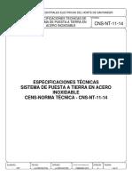 CNS-NT-11-14 ESPECIFICACIONES TÉCNICAS DE SPT EN ACERO INOXIDABLE..pdf