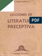 Ruano S.J., Jesus Maria - Lecciones de Literatura Preceptiva