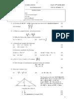 Form 3 Mathematics Revision Questions (CIC)
