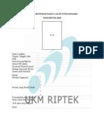 Formulir Pendaftaran Calon Fungsionaris 2018