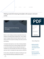 Making autocad drawing templates