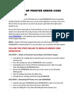 How to Fix Hp Printer Error Code 0XD0620230?