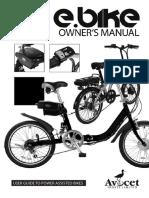 E Bike Owners Manual