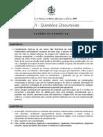 2015_RESPOSTAS ESPERADAS UFMT prova