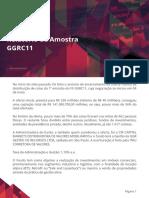 Relatório de Amostra SUNO FII - GGRC11 Fundos de Investimentos Imobiliarios