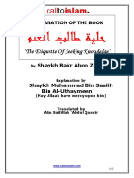 an Explanation of Shaykh Bakr Abu Zayd's 'the Etiquette of Seeking Knowledge' by Shaykh Ibnul-Uthaymeen (Point 3-7)