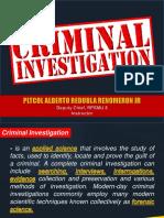 LESSON MANUSCRIPT Criminal Investigation