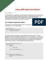 J2ME Application Model