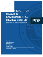 Final Report on Hawaii's Environmental Review System 2010