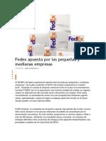 Fedex Apuesta Por Las Pequeñas