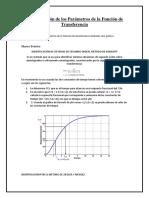 Determinación de Los Parámetros de La Función de Transferencia