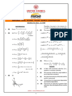 Solutions 11PCM nstse exam