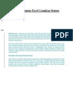 Kumpulan Rumus Excel Lengkap Semua Fungsi