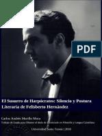 El susurro de Harpócrates. Silencio y Postura Literaria de Felisberto Hernández