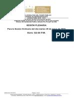 Plenaria Orden Del Dia Proyectos (2019 0
