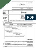 Prueba Hidrostatica (Formato Cotización)