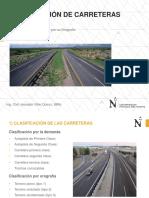 Sesión 5 Clasificación de Carreteras